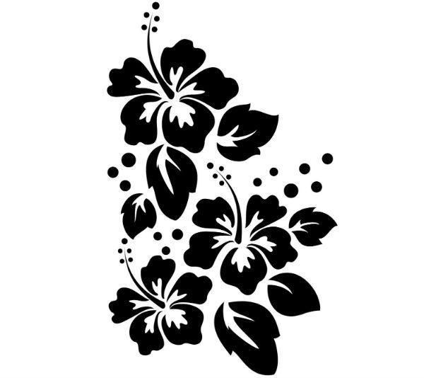 Цветы трафарет для декора фото