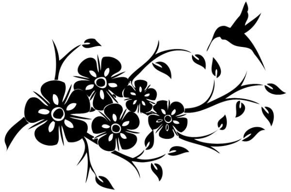 Колибри трафарет для декора фото