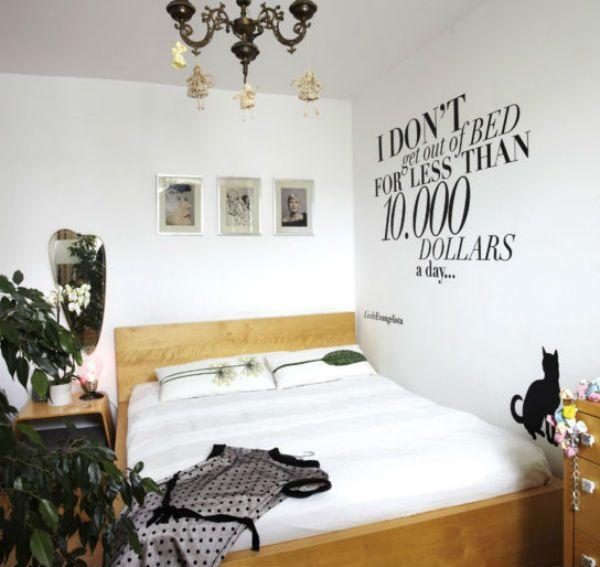 Трафарет для декора стен из слов фото
