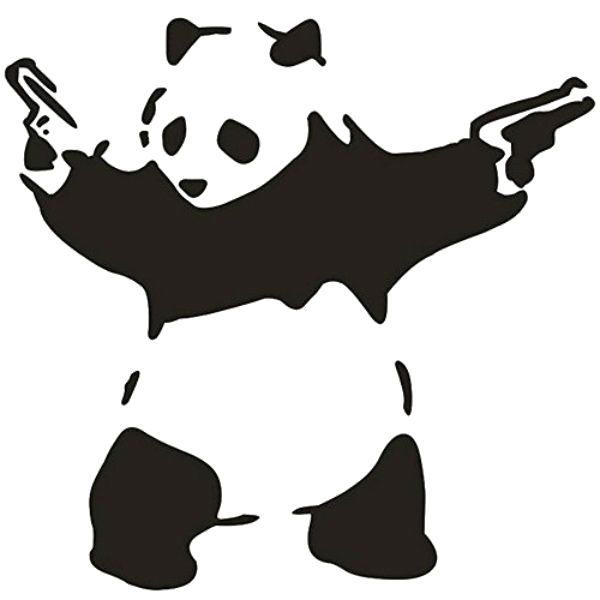 Трафарет панда фото