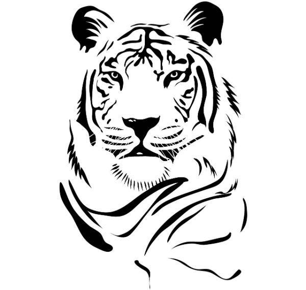 Трафарет тигр фото