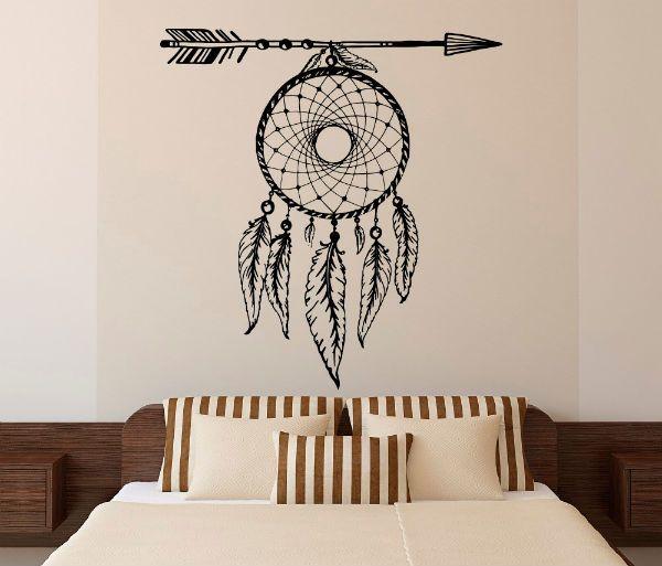 Трафарет для декора в спальне фото
