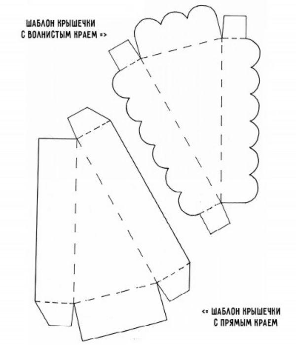 Шаблон упаковки в виде кусочка торта 1 фото