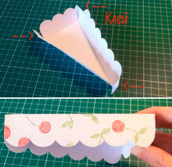 Упаковка в виде кусочка торта шаг 7 фото