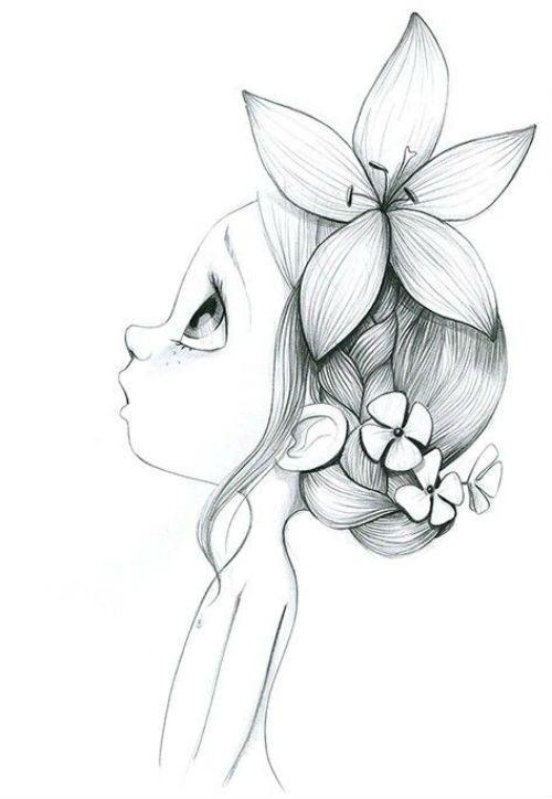 Красивая девочка с цветком фото