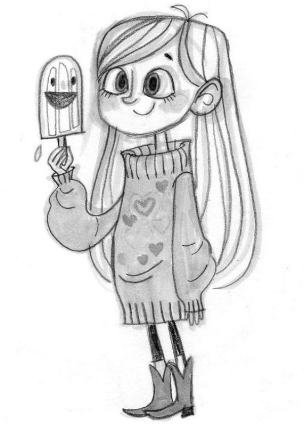 Девочка с мороженым фото