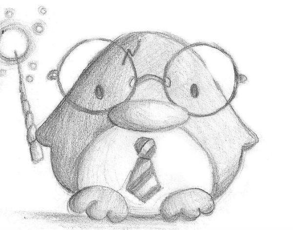 Умный пингвин фото