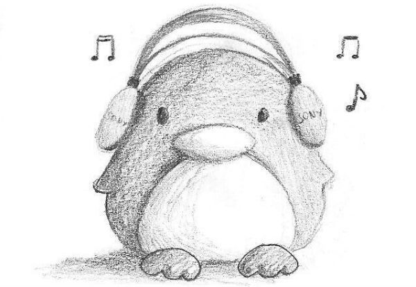 Музыкальный пингвин фото