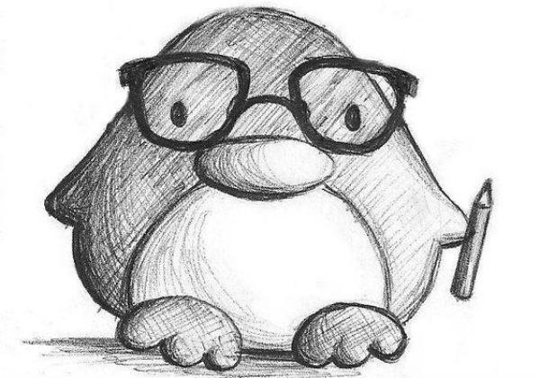 Пингвин для срисовывания фото