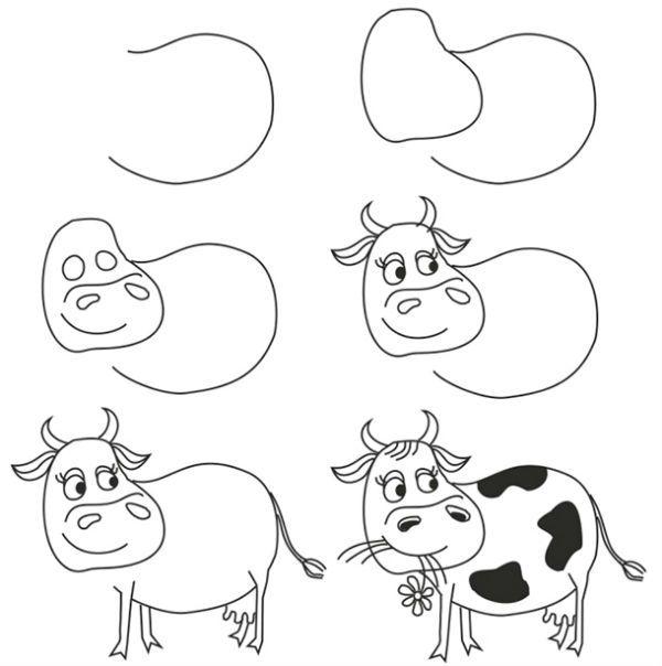 Корова пошагово фото