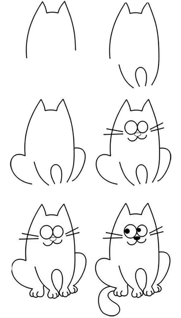 Кот пошагово фото
