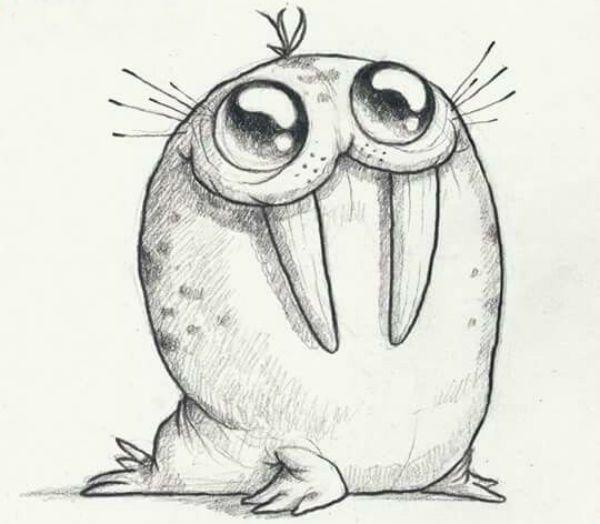 Рисунок моржа фото