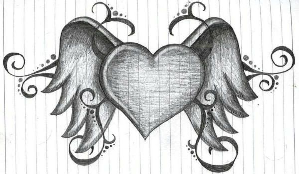 Сердце с крыльями фото
