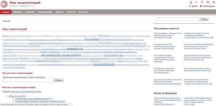 Мир энциклопедий