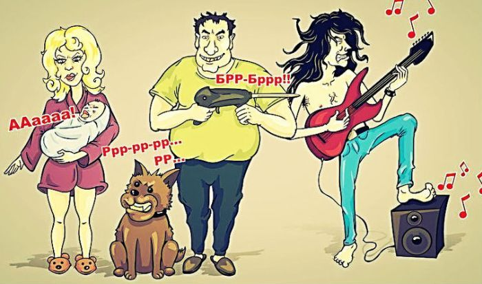 Карикатура соседей фото