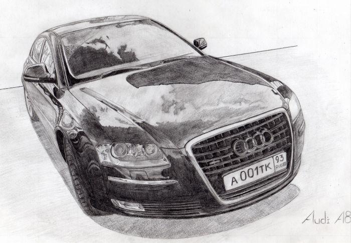 крутые рисунки автомобилей карандашом