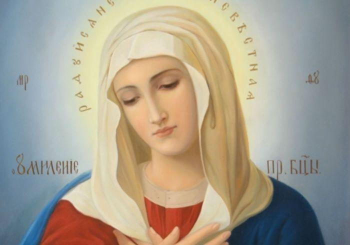 Лик Святой Богородицы фото