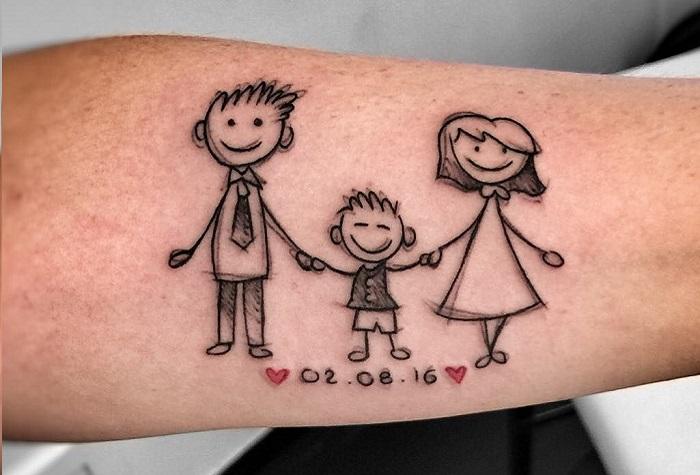 семейное тату 3 фото