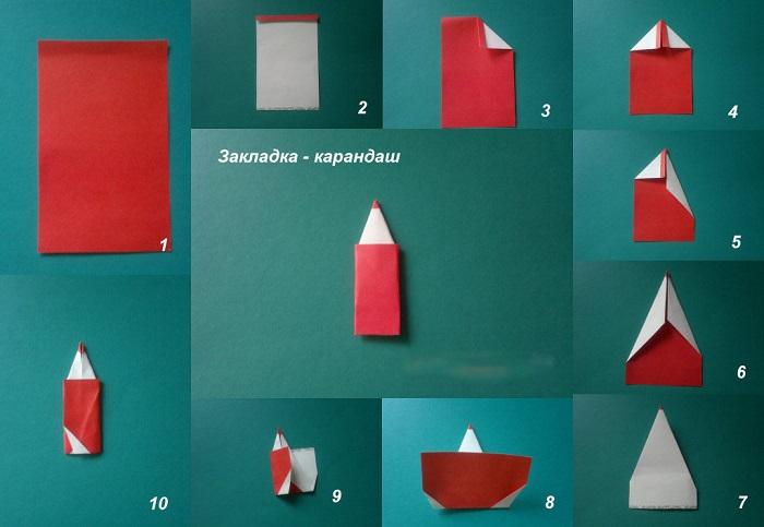 Закладки карандаш фото