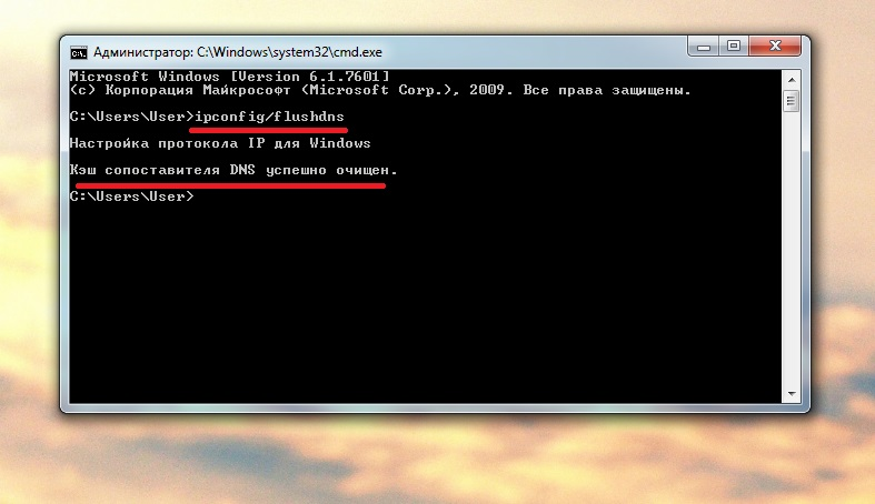 чистка кэша DNS фото