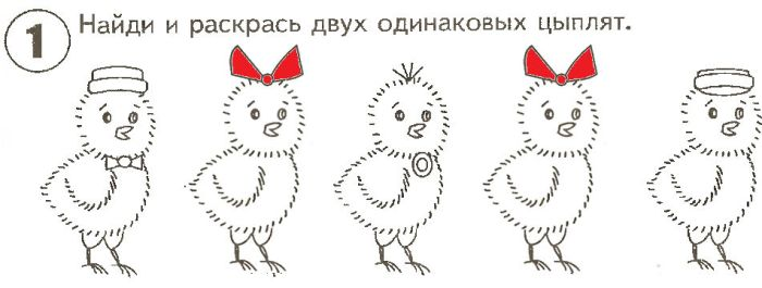 Раскрасить цыплят фото