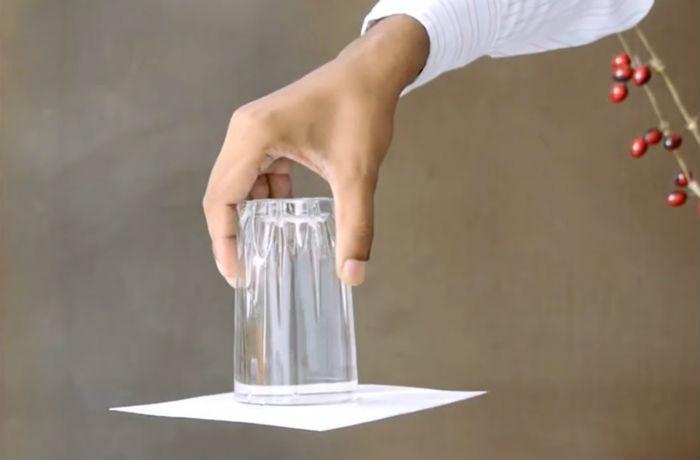 Фокус с водой фото
