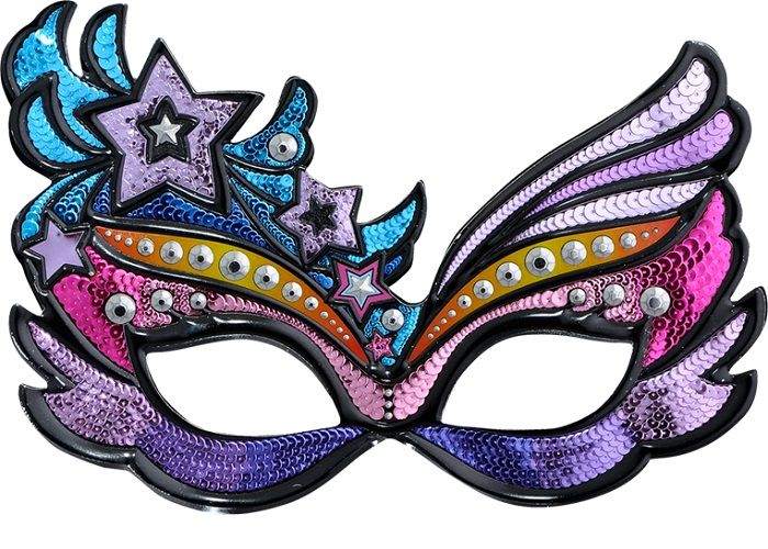 Карнавальная маска на голову