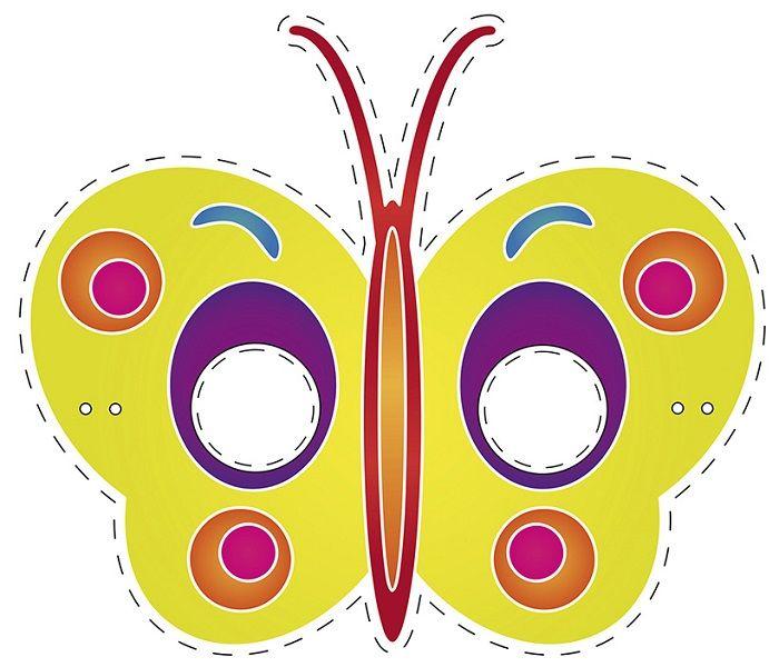 Маска бабочки на голову
