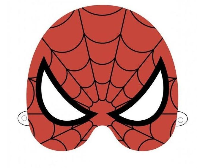 Маска человека паука на голову