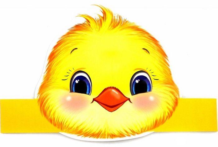 Маска цыпленка на голову
