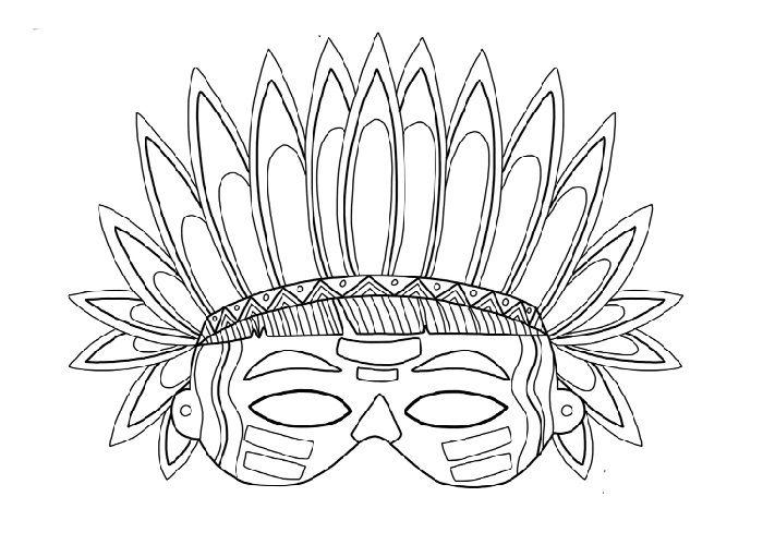 Маска индейца на голову