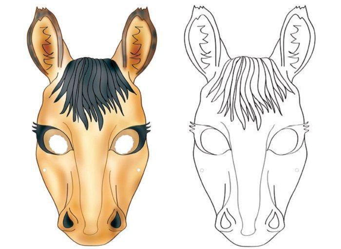 Маска коня на голову