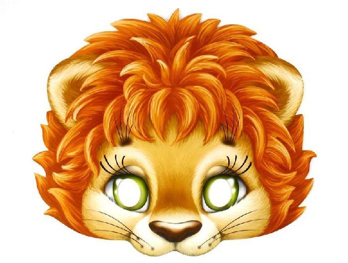 Маска льва на голову