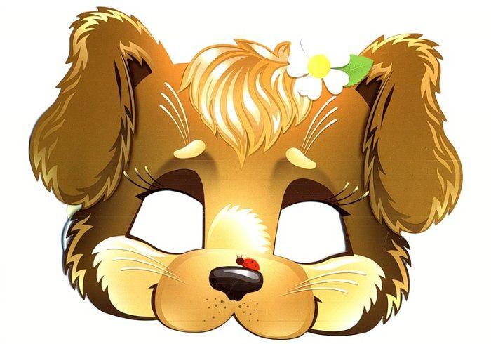 Маска собаки на голову