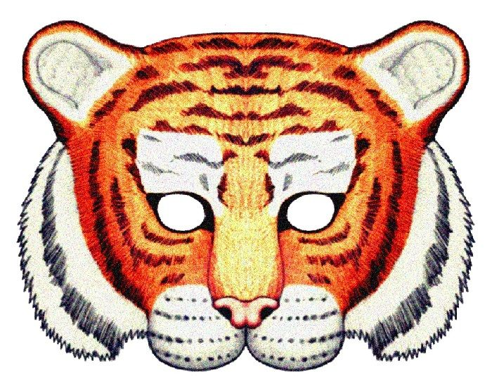 Маска тигра детям