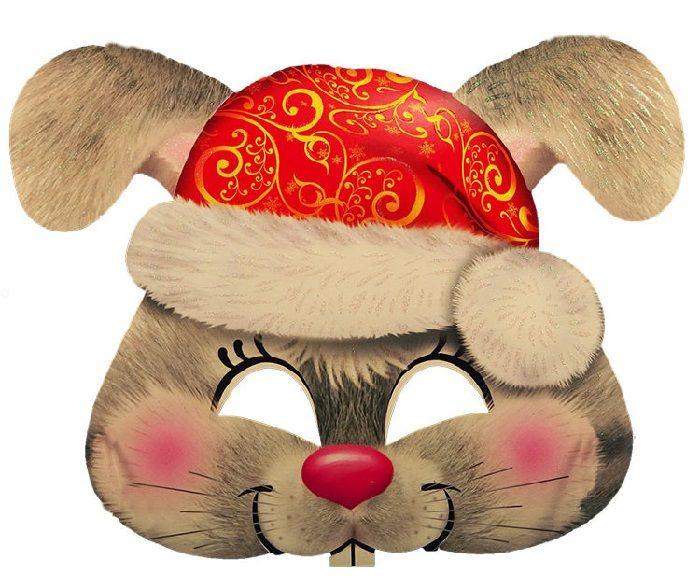 Маска зайца на голову