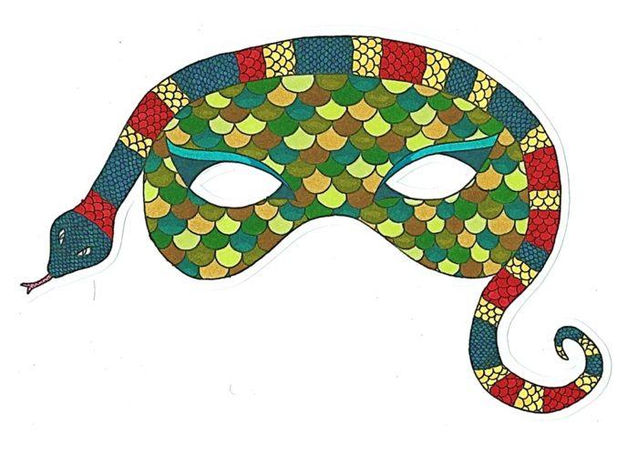 Маска змеи для детей