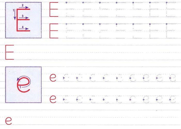 Печатная буква Е