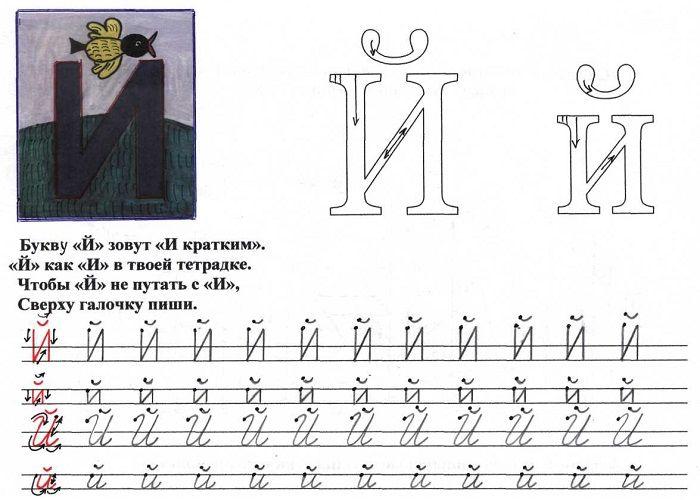 Печатная буква Й