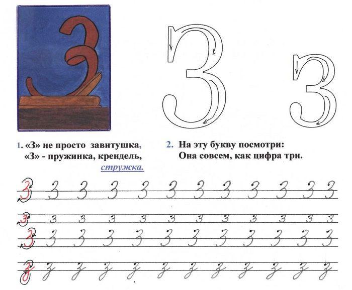 Печатная буква З