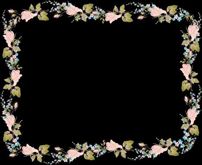 Цветочные рамки фото