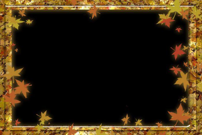 Осенние рамки фото