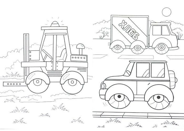 Раскраски Транспорт на дороге