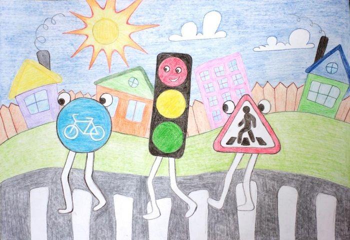 Рисунки со светофором