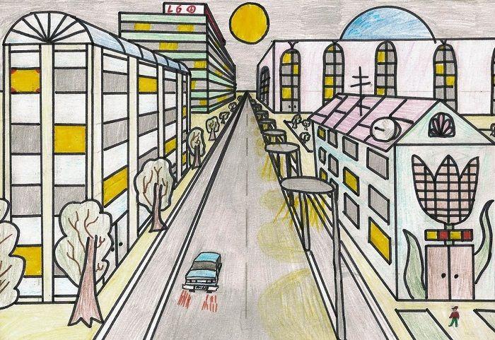 Рисунок по теме Моя улица