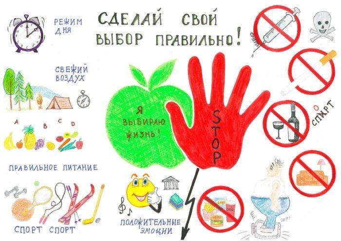 Рисунок про ЗОЖ для подростков