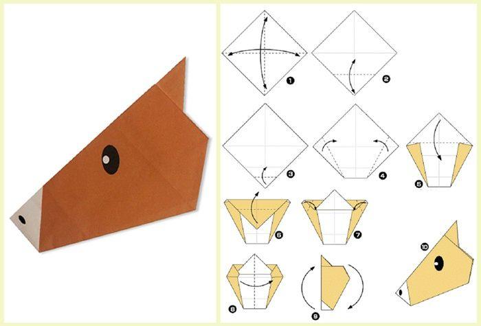 Чертеж оригами