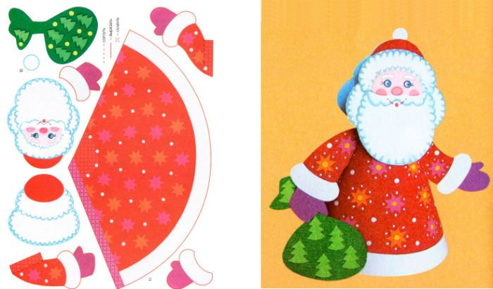 Дед Мороз поделка фото