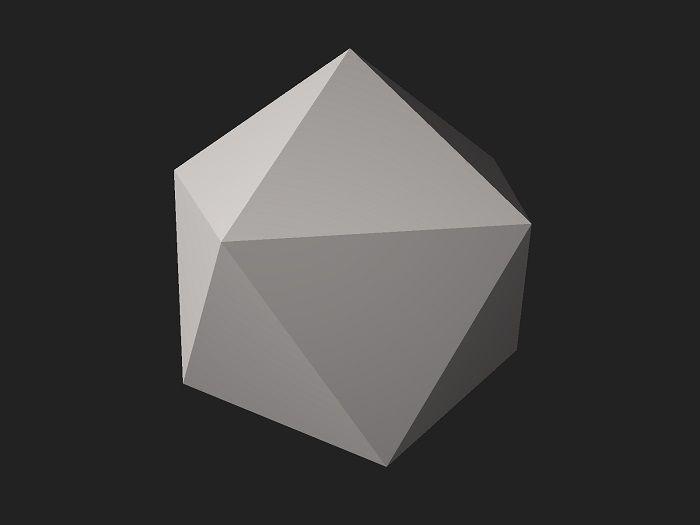Икосаэдр из бумаги