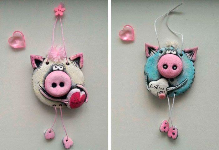 Свинья поделка фото